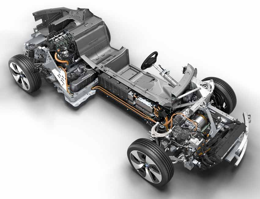 BMW i8 Plug-in Hybrid Coupe Performance Combustion Engine