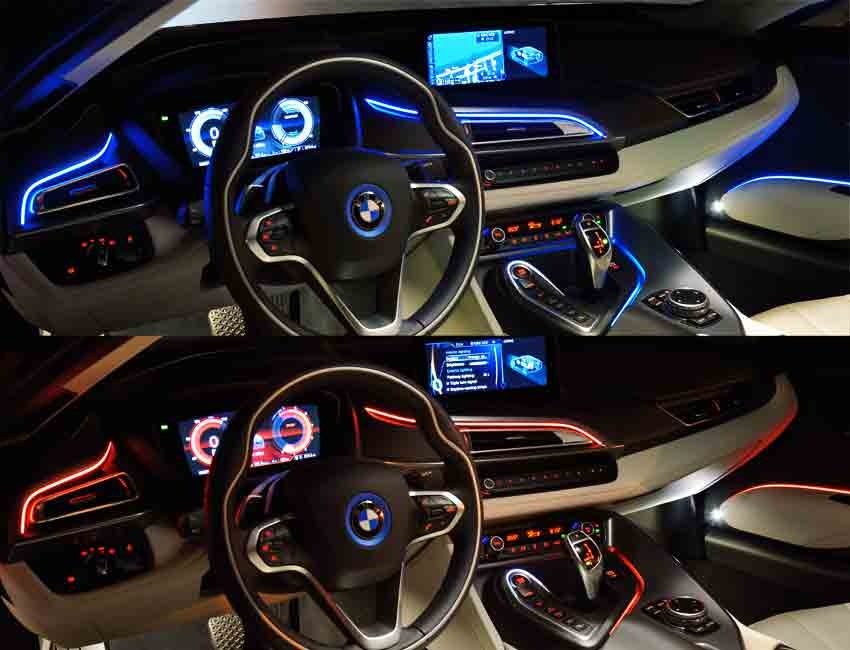BMW i8 Interior Ambient Lighting