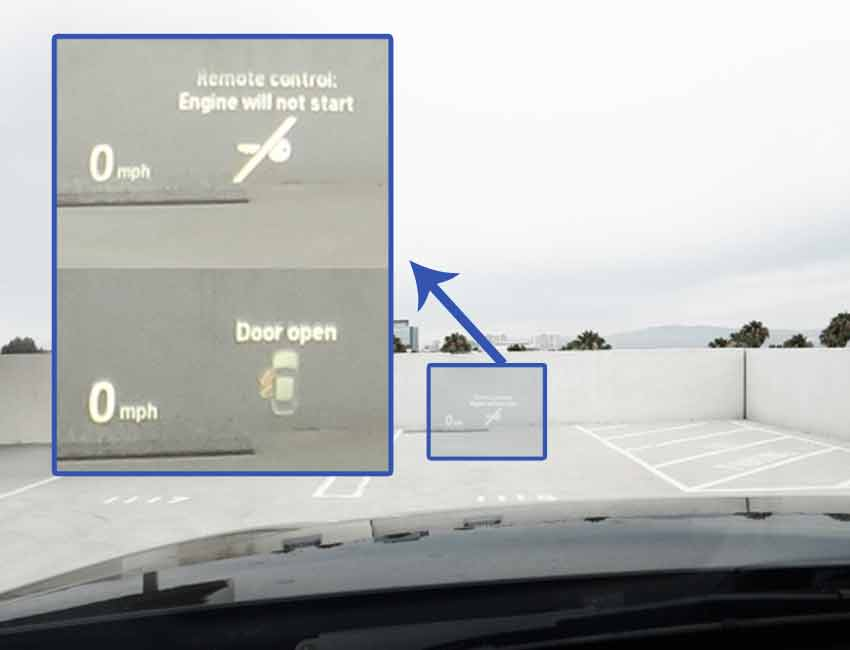 BMW 4 Series Technology Head-up Display
