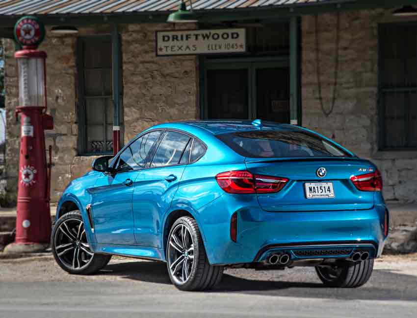 BMW X6 M Maintenance Sports Coupe Blue