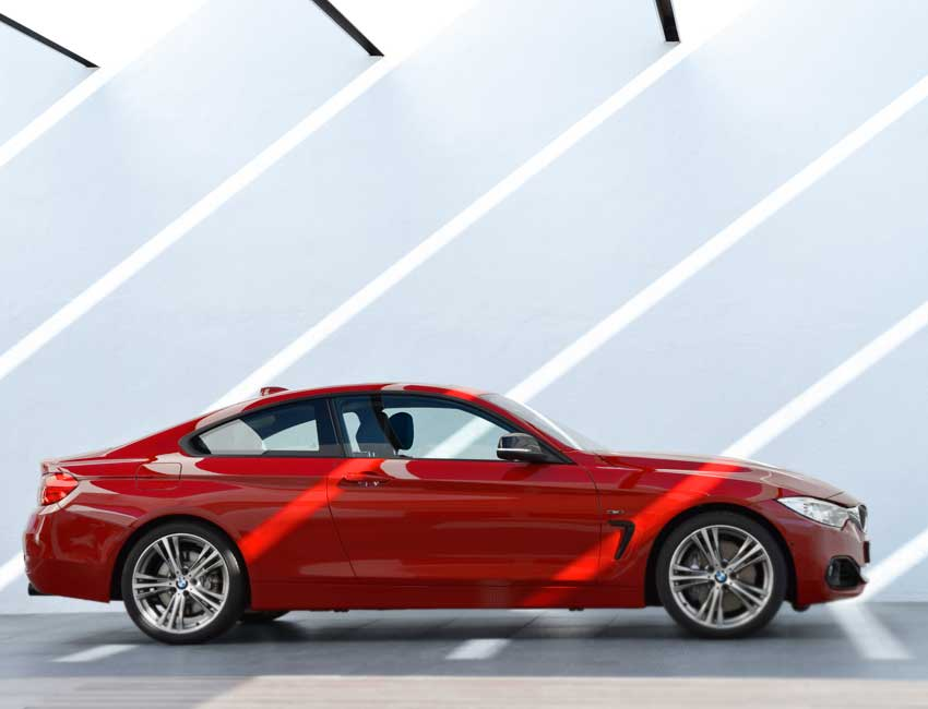 BMW 4 Series Coupe Maintenance 2017 and Later Models Side View