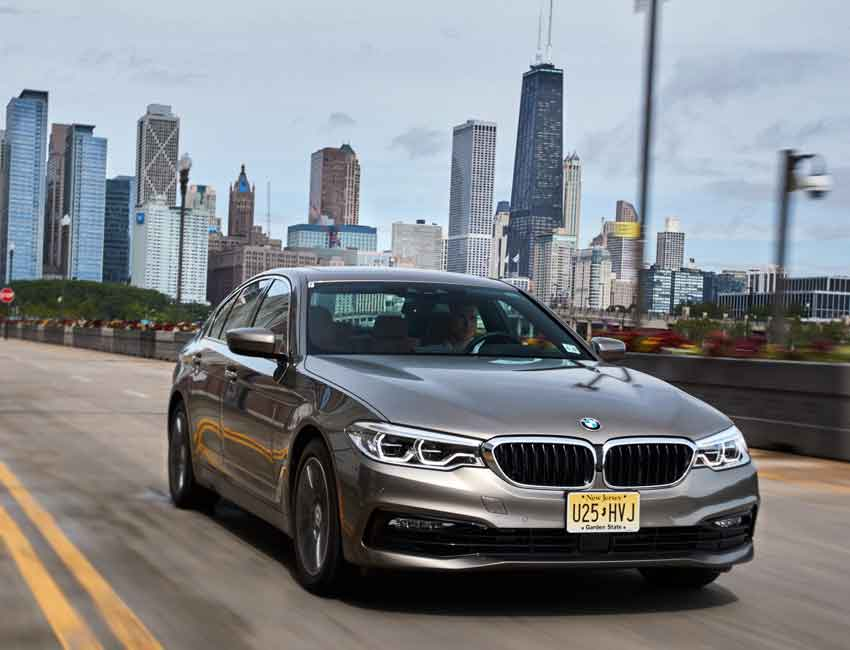 BMW 5 Series Maintenance 2017 and Later Models Front View