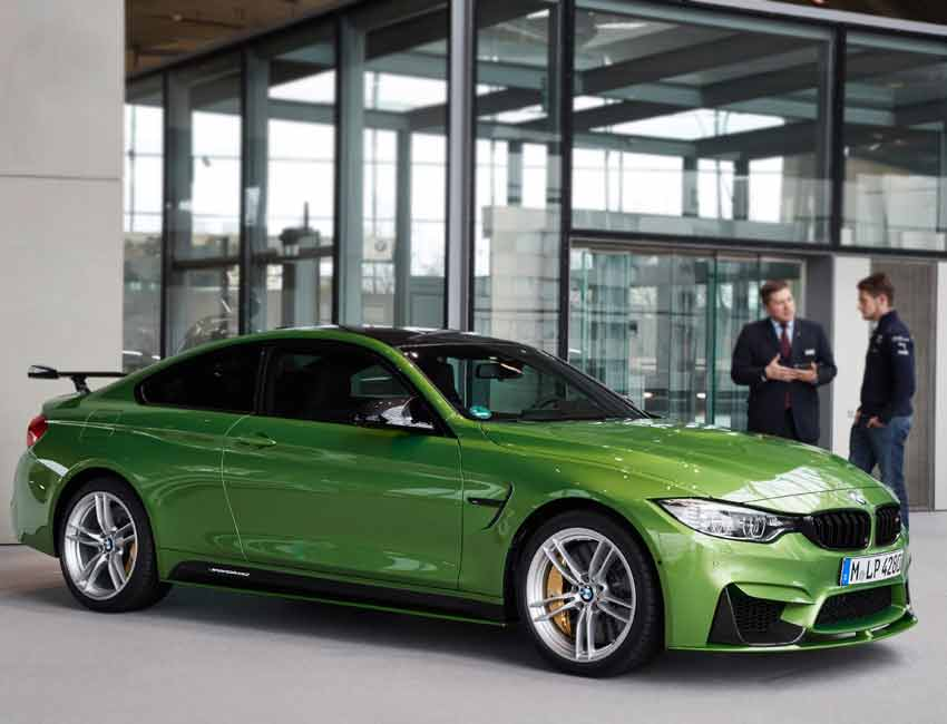 BMW M4 Coupe Maintenance Lime Green Limited Edition with Carbon Ceramic Brakes