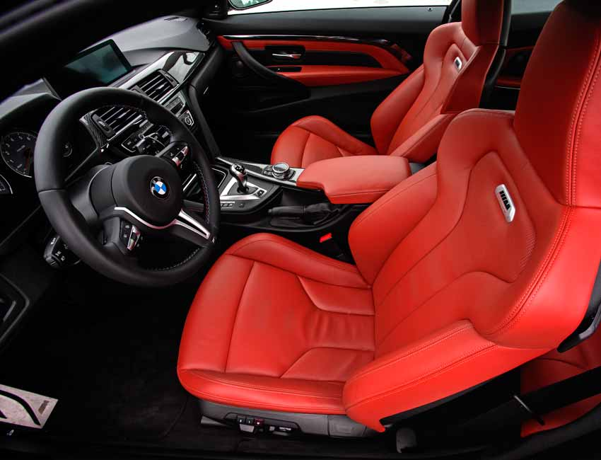 BMW M3 Maintenance Interior Red Leather