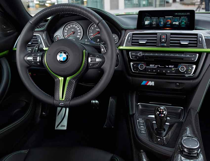 BMW M4 Coupe Maintenance Carbon Fiber Lime Green