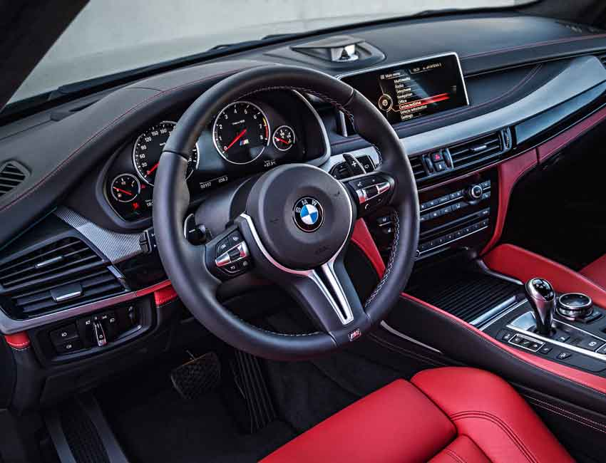 BMW X5 Maintenance Interior Red Leather