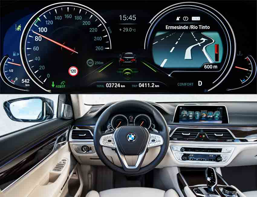 Top 6 Amazingly Useful Technologies in the BMW 7 Series Instrument Cluster Display