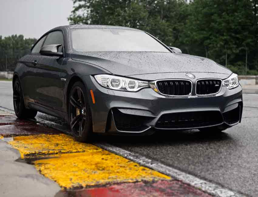 BMW M4 M Carbon Ceramic Brakes Wet Condition