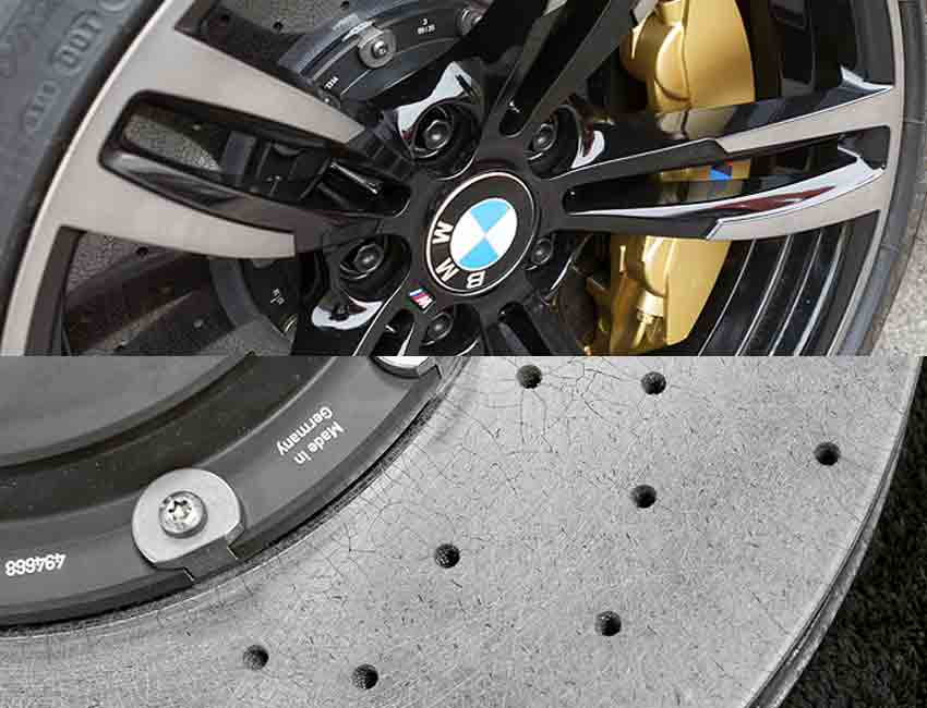 BMW M5 M Carbon Ceramic Brake Disc Hub Info