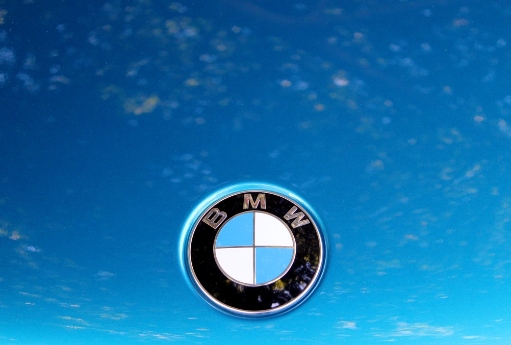 bmw logo on blue